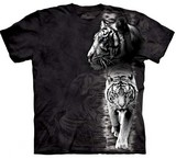 T-shirts Animaux Félins Tigres blancs
