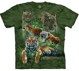 T-shirts Animaux Félins Tigres Jungle