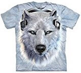 T-shirts Animaux sauvages Loup blanc DJ