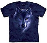 T-shirts Animaux sauvages Loup bleu