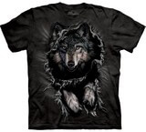 T-shirts Animaux sauvages Loup Déchire