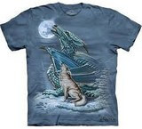 T-shirts Loup Dragon