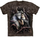 T-shirts Animaux sauvages Loup gris Femme
