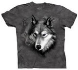 T-shirts Animaux sauvages Loup gris Tête