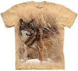 T-shirts Animaux sauvages Loup Herbes