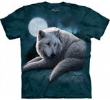 T-shirts Animaux sauvages Loup Lune