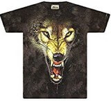 T-shirts Animaux sauvages Loup méchant