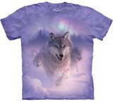 T-shirts Animaux sauvages Loup Neige