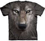 T-shirts Animaux sauvages Loup noir