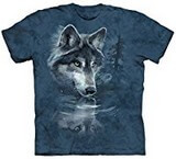T-shirts Animaux sauvages Loup Reflet