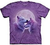 T-shirts Animaux sauvages Loups amoureux