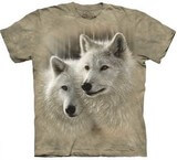 T-shirts Animaux sauvages Loups blancs