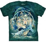 T-shirts Animaux sauvages Loups Cycle Lune