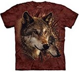 T-shirts Loups Foret