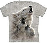 T-shirts Animaux sauvages Loups hurlant