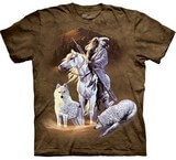 T-shirts Loups Indien Chasse