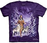 T-shirts Animaux sauvages Loups Indienne