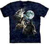 T-shirts Animaux sauvages Loups Lune