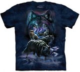 T-shirts Animaux sauvages Loups Meute