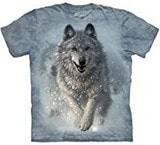 T-shirts Animaux sauvages Loups Neige