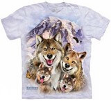 T-shirts Animaux sauvages Loup Selfie