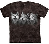 T-shirts Animaux sauvages Loups trio