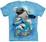T-shirts Animaux Mer Orque Dauphin Poisson