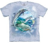 T-shirts Animaux Mer Dauphins bulle