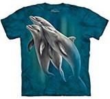 T-shirts Animaux Mer Dauphins Trio