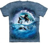 T-shirts Animaux Mer Orques