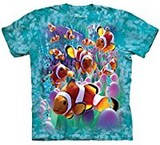 T-shirts Animaux Mer Poissons-clown