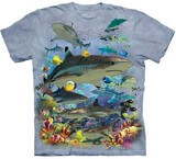 T-shirts Animaux Mer Requins Corail