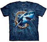 T-shirts Animaux Mer Requin Machoires