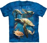 T-shirts Animaux Mer Tortues Groupe