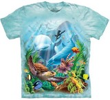 T-shirts Animaux Mer Vue Sous-marine