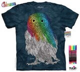 T-shirts Oiseau Grand Duc Coloriage