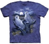 T-shirts Oiseaux Chouettes blanches