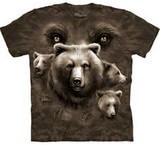 T-shirts Animaux Ours bruns Yeux