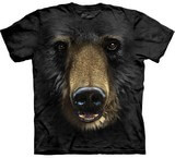 T-shirts Animaux Ours noir Tête