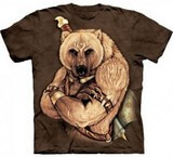 T-shirts Animaux Ours tribal