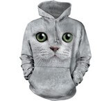 Sweat Animaux Chat blanc