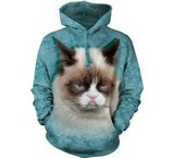 Sweat Animaux Chat Grumpy