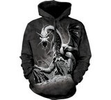 Sweat Animaux Dragon noir