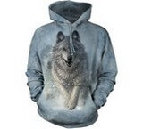 Sweat Animaux Loup blanc