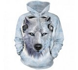 Sweat Animaux Loup blanc DJ