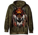 Sweat Animaux Loup Indien