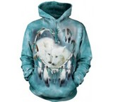 Sweat Animaux Loups blancs