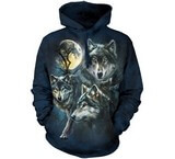 Sweat Animaux Loups Lune