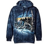 Sweat Animaux Loups Montagne