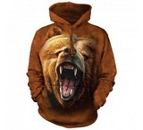 Sweat Animaux Ours Grizzly